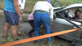 Авария на трассе М-53 в районе посёлка Емельяново (08.07.2017 г.)
