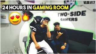 We Spent 24 Hours In TSG Gaming Room || Life Of A Streamer Vlog 17 || Two Side Gamers
