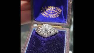 Art Deco .40ct. Diamond & Platinum Antique Engagement - Fashion Ring