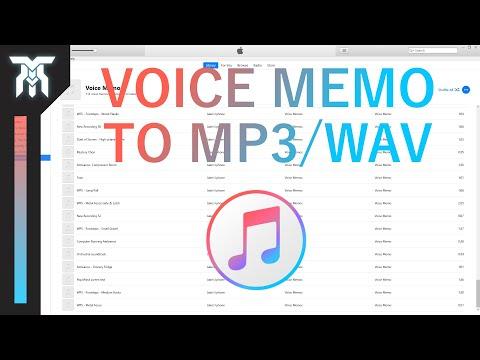 How To Convert Voice Memos To MP3 & WAV In iTunes
