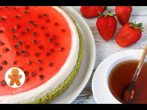 Торт Пирог Арбуз ✧ Watermelon Cake (English Subtitles)