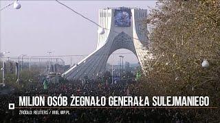 Milion osób żegnało generała Sulejmaniego w Teheranie