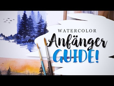 Aquarell Anfänger Tutorial 🎊 Watercolour Guide feat. White Nights