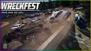 NASCAR DIRT RACING DESTRUCTION!   Wreckfest   NASCAR Legends Mod