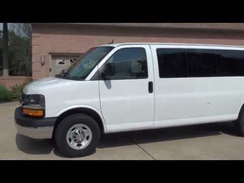 HD VIDEO 2013 CHEVROLET EXPRESS G3500 15 PASSENGER VAN USED FOR SALE SEE WWW SUNSETMILAN COM