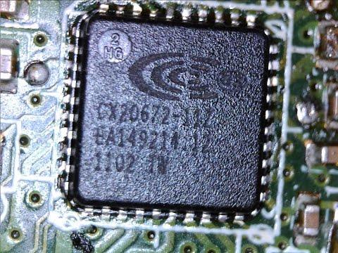 Замена аудиочипа Conexant CX20672 -11Z на ноутбуке ASUS A52J