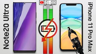 Samsung Galaxy Note20 Ultra vs Apple iPhone 11 Pro Max Battery Test