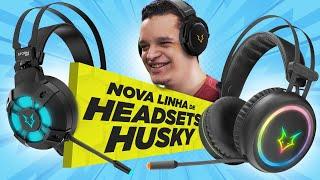 Conheça os NOVOS HEADSETS da Husky Gaming