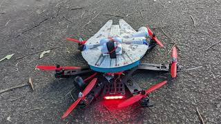 FPV flight with Insta 360 Go on Millenium Falcon hull on drone