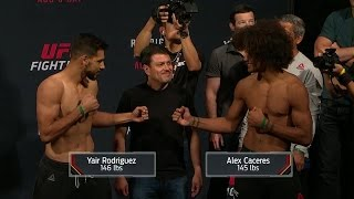 Yair Rodriguez vs. Alex Caceres | Weigh-In | UFC ON FOX