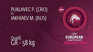 Qual. GR - 58 kg: M. IAKHIAEV (RUS) df. P. PUKLAVEC (CRO) by TF, 10-1