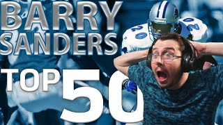 Barry Sanders Top 50 Most Ridiculous Plays of All-Time REACTION