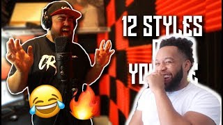 Crypt - 12 Styles of YouTube Rap (REACTION!) HILARIOUS!