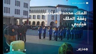 شاهد مرور موكب الملك محمد السادس رفقة الملك فيليبي بشارع محمد الخامس
