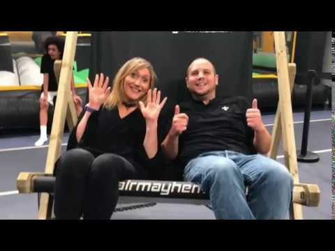 Play - Director of Public Health Lisa McNally, plus Councillor Danny Millard visit Air Mayhem