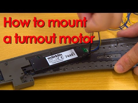 How to mount the motor 74491 in a Märklin or Trix turnout [Trainroom]