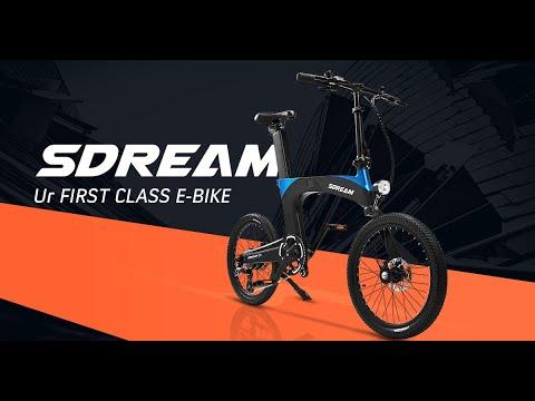 SDREAM Ur: Ultra-Comfy Suspension Folding E-Bike-GadgetAny