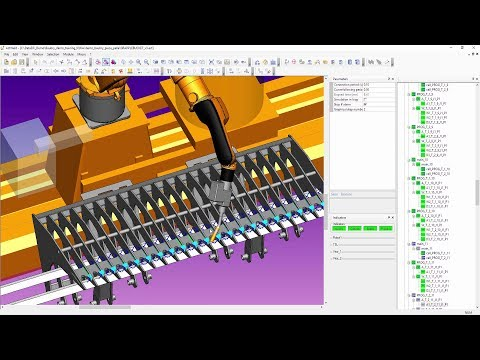 Automatic program duplication using almaCAM Weld OLP software of welding robots