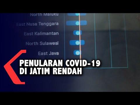 tingkat penularan covid- di provinsi jawa timur terendah