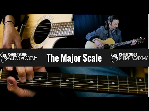 Beginner Guitar Lessons 3 - The Major Scale on Guitar