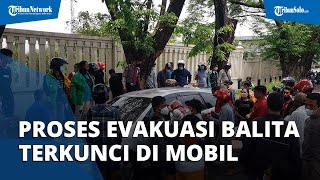 Dramatis, Proses Evakuasi Balita Terkunci di Mobil saat Orangtua Evakuasi Korban Kecelakaan di Solo