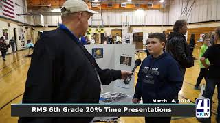 Rochester Middle School 6th Grade 20% Time Presentations