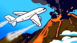 Отказали все двигатели, но пилоты смогли выбраться из облака вулканического пепла