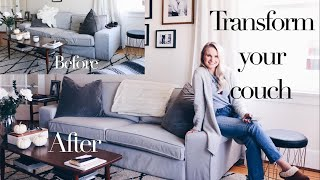 6 TIPS TO MAKE YOUR COUCH LOOK NEW AGAIN | LIFE HACK | ANDREA CLARE IN VANCOUVER
