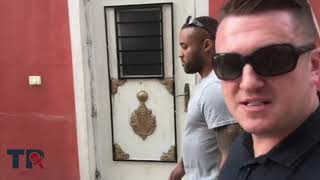 "Tommy Robinson travels to ""Palestine"" and visits a refugee camp"