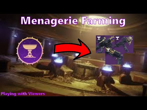 Menagerie Farming! Viewers WELCOME! |Destiny 2