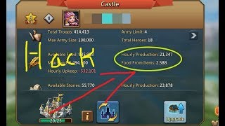 Lords Mobile Food Hack [New Update] - How impossible to hack Resources - Hack Unlimited Resources