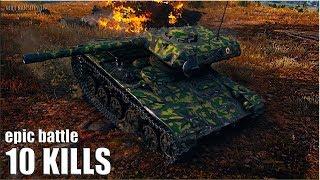 ELC EVEN 90 wot СТАТИСТ устроил ЭКШОН 🌟🌟🌟 World of Tanks лучший бой на прем лт 8 уровня