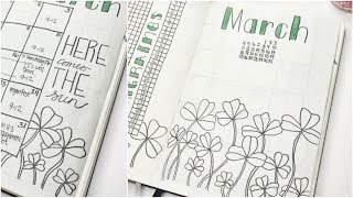 PLAN WITH ME || March 2018 Bullet Journal Set Up!