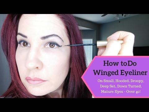 Easy Eye Makeup and Winged Eyeliner Tutorial for Mature, Hooded, Droopy Eyes - Women over 40!