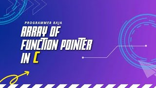 Array of function pointers in C programming