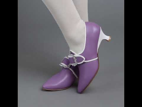 PRE-ORDER Dunmore 18th Century Shoes (Lavender/White)(1770-1790)