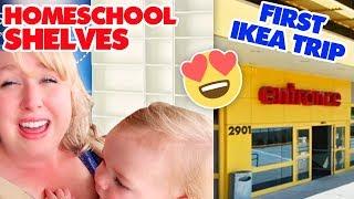FIRST Trip to IKEA for Homeschool Bookshelves | + IKEA Homeschooling Haul!