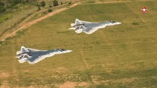 Проход Су-57 на сверхмалой высоте: эксклюзивные кадры с воздуха