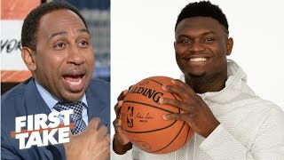 'What can go wrong, will go wrong' – Stephen A. reacts to the Knicks losing out on Zion | First Take