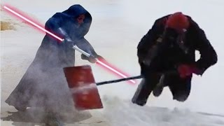Guy falling for 9 seconds while trying to fight Darth Maul