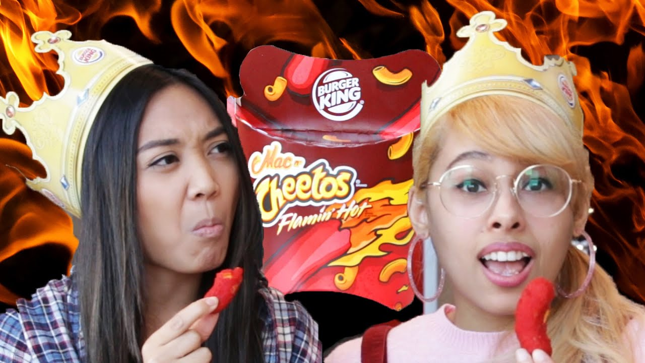People Try Burger King's Flamin' Hot Mac N' Cheetos thumbnail