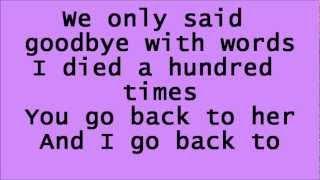 Glee Back to Black with lyrics