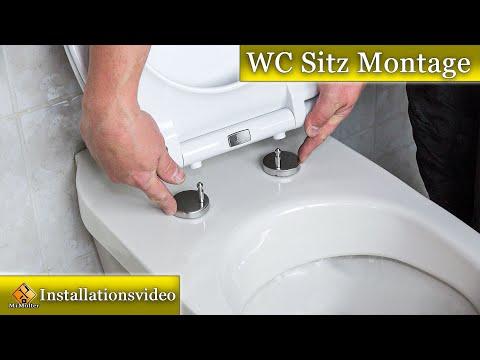 Montage WC Sitz mit Absenkautomatik /Toilettendeckel montieren - Dombach Celesto Toilettendeckel