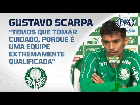 GUSTAVO SCARPA AO VIVO! Após duelo brasileiro na Libertadores, meia fala sobre ano do Verdão