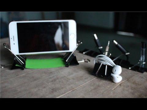 11 cose Lifehack si possono fare con clip legante