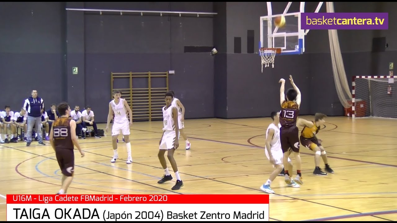 TAIGA OKADA (Japón ´04). Basket Zentro Madrid  Vs. Real Madrid (BasketCantera.TV)