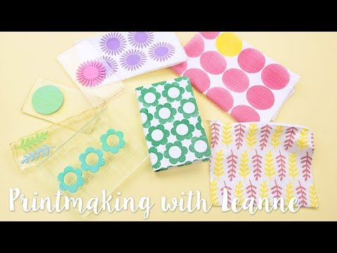 Print Making for Beginners with Leanne! - Sizzix