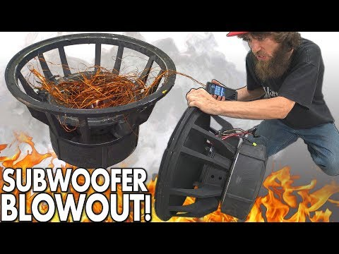 "Blowing $8000 Worth of SUBWOOFERS!?! The BIGGEST Subwoofer BLOWOUT EVER w/ Rare 18"" SPEAKER BLOWOUTS"