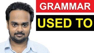 How To Use 'USED TO' Correctly   Basic English Grammar
