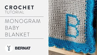 Crochet a Blanket: Monogram Baby Blanket